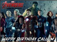 A4 Avengers Age of Ultron Personalised Edible Icing or Wafer Paper Birthday Cake topper Design C